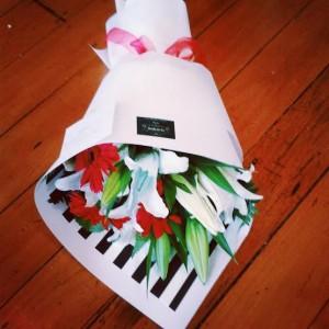 A gorgeous Christmas bouquet of festive flowers